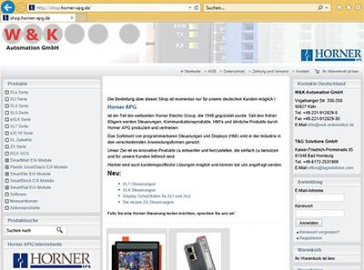 [:de]Klick öffnet den von uns in Deutschland vertretenen Horner-Shop mit einem Sortiment an programmierbaren Steuerungen und Displays (HMI)[:]
